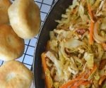 Steamed Cabbage and Saltfish